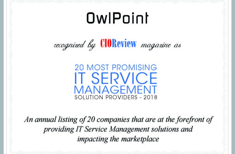 OwlPoint Named 20 Most Promising ITSM